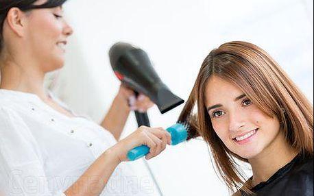 Barvení vlasů nebo ombre plus střih plus rekonstrukce vlasoveho vlákna Steampod