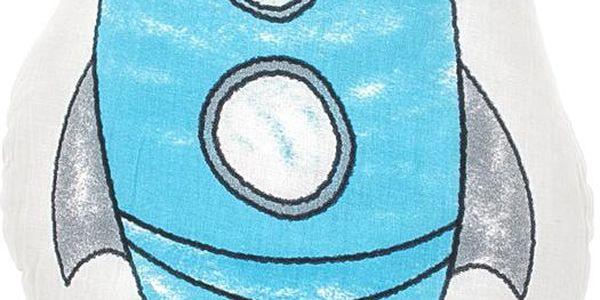 Polštářek Space Rocket 40x30 cm