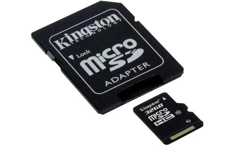 Kingston MicroSDHC 32GB UHS-I U1 (30MB/s) + adapter (SDC10/32GB)