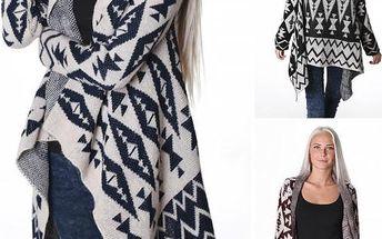 Pletený svetr s asymetrickým střihem!