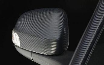 Karbonová folie 3D pro všestranné využití - 1 metr v bílé nebo černé barvě!