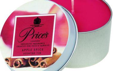 FRAGRANCE vonné svíčky v plechu Jablko a koření 123g 3ks