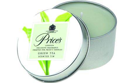 FRAGRANCE vonné svíčky v plechu Zelený čaj 123g 3ks