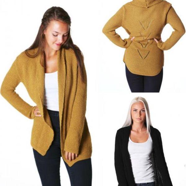Pletený svetřík se vzorem na zádech!