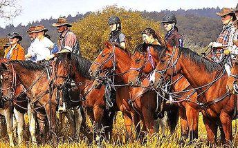 Parádní hodinová westernová vyjížďka na koni