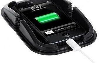 Podložka pro palubní desku Vašeho auta s držákem na telefon nebo navigaci.
