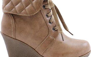 Béžové kotníkové boty