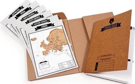 Sada pro cestovatele - notes a seškrabávací mapy