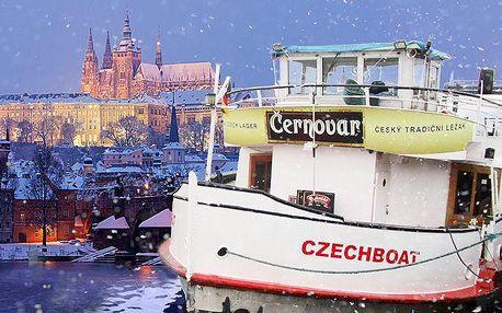 Hodinová adventní plavba centrem Prahy se svařákem, horkou čokoládou pro děti a cukrovím