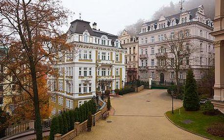 Špičkový lázeňský pobyt pro 2 osoby na 7 nocí s 34 procedurami, vstupní lékařskou prohlídkou a plnou penzí v Hotelu Venus**** v Karlových Varech