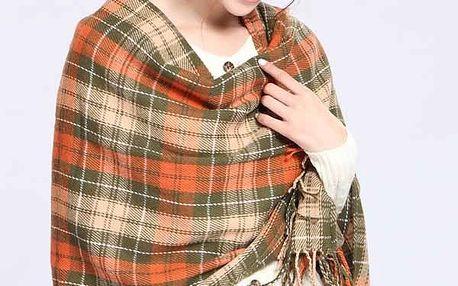 Dámský kostkovaný šátek v mnoha barvách