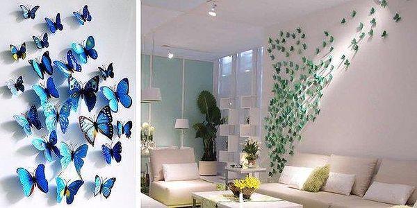 3D motýlci - dekorativní samolepky i…