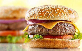 Burger nebo sendvič + hranolky u Kamenného stolu!