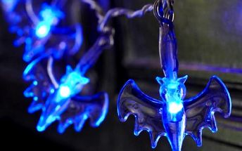 Dekorativní světla s netopýry