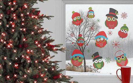 Krásné vánoční samolepky na sklo