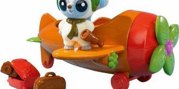 Yoohoo & Friends veverka Simba v letadle