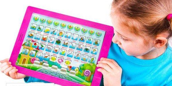 Dětský výukový tablet na hraní Pafíkův šikulka – kompletně v češtině