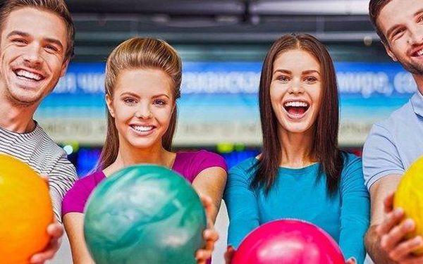 60 min. bowlingu až pro 8 přátel