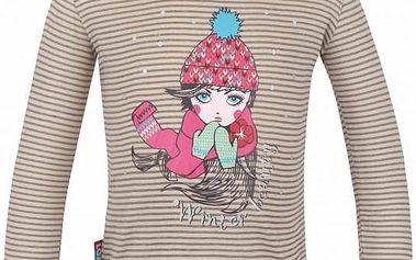 Dětské triko Loap Ingrid L4218 hnědá