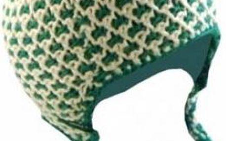 Zimní čepice Loap Caitie zelená/bílá