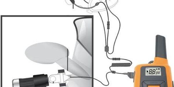 Vysílačka do přilby Sencor SMR 500 MB s příslušenstvím