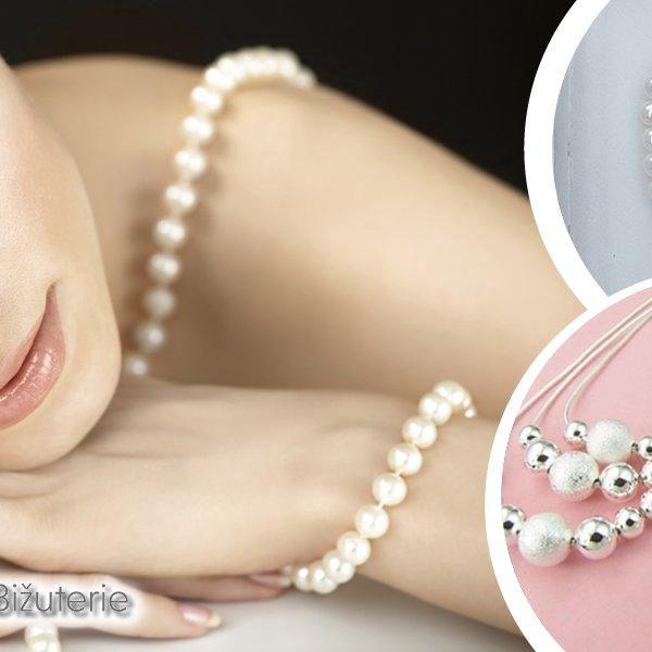 Dámské sety v perlové podobě nebo set zdobený stříbrnými kuličkami. Doplňte a oživte Váš outfit!