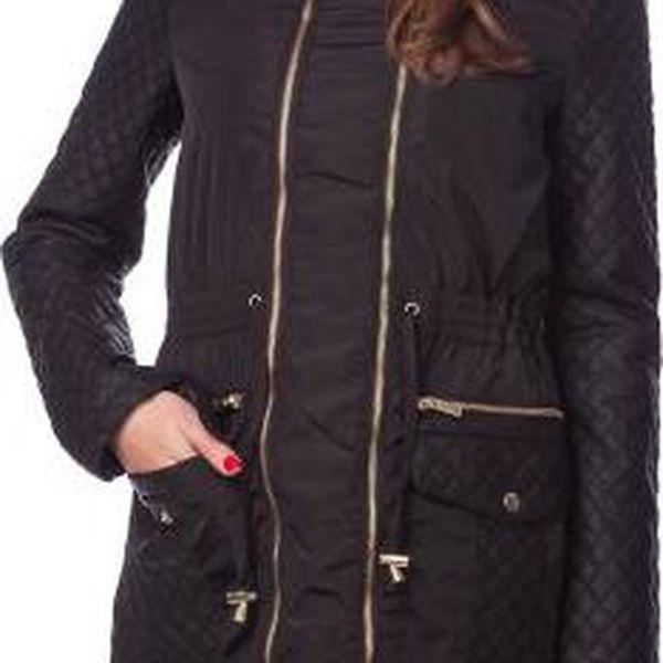 Brave Soul dámský kabát Lipgloss M černá