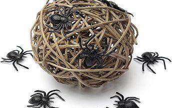 Dekorace na halloweenskou párty - 10 pavouků