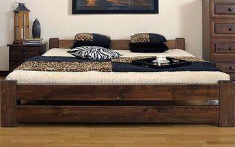 Kvalitní postele z borovicového dřeva s roštem