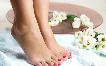 Relaxační pedikúra včetně masáže nohou