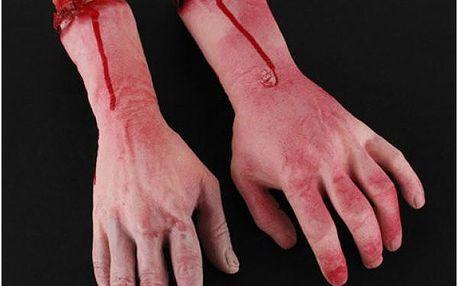 Model uřízlé lidské ruky Halloween!