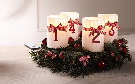 Tchibo, Svíčky z pravého vosku s LED, 4 ks