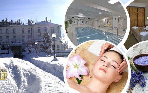 Levandulové snění - relaxační pobyt pro dva na 3 dny v oceněném 4* Parkhotelu GOLF Mariánské Lázně s bohatou polopenzí. Masážní koupel pro uvolnění s přísadou levandulových perel, antistresová indická masáž, vstup do vyhřívaného bazénu.
