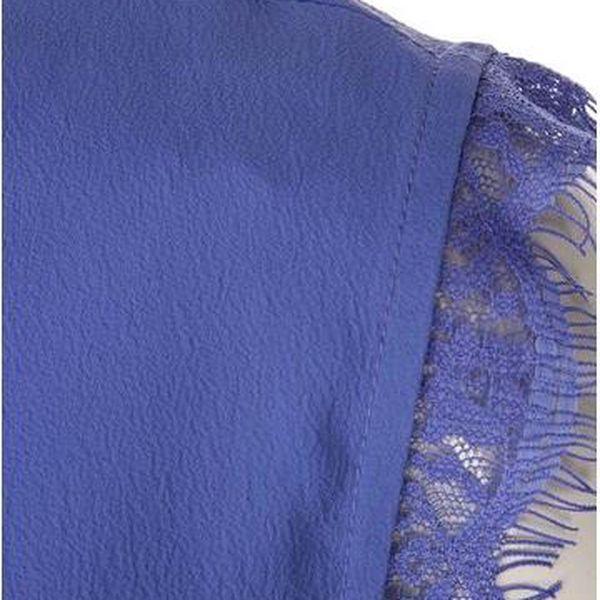 Modrý top s krajkovými detaily Noisy May Mena4