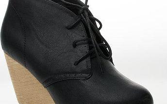 BLESS Kotníčkové boty na klínku 6543B 41