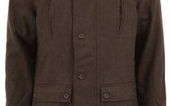 Khaki pánský vlněný kabát Bellfield Stretford