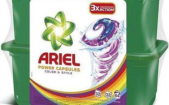 Ariel Color & Style tekuté tablety 2 x 32 ks