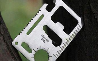 Outdoorová pomůcka ve tvaru karty