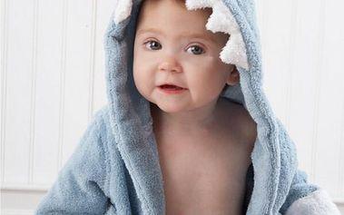 Dětský župánek s motivy zvířat