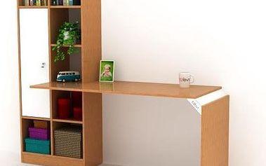 Pracovní stůl s knihovnou Opus - doprava zdarma!