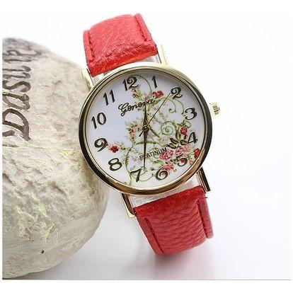 Jemné hodinky s květinovým motivem