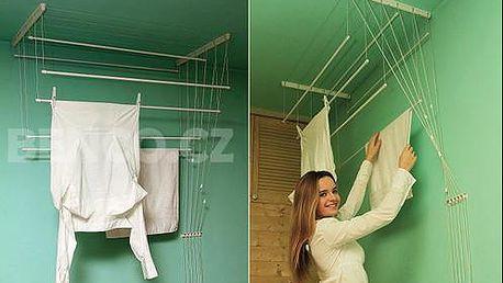 Stropní sušák na prádlo IDEAL + kolíčky na prádlo JUMBO jako DÁREK, doručení zdarma