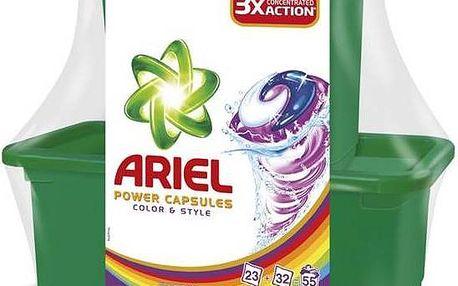 Ariel Color & Style tekuté tablety 23 + 32 ks