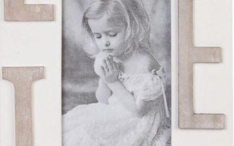 Dřevěný fotorámeček Love!
