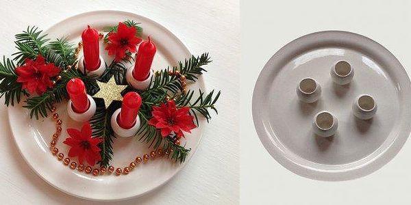 Čas Vánoc se blíží připravte se na ně a ozdobte svůj stůl krásnýmkeramickým svícnem .Svícen si můžete ozdobit podle své fantazie.