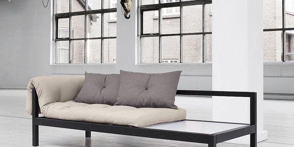 Multifunkční sofa Soul, vision/black - doprava zdarma!