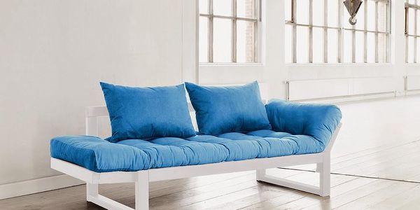 Sofa Karup Edge, bílá/modrá