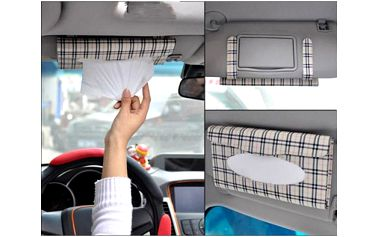 Box na kapesníčky na clonu do auta