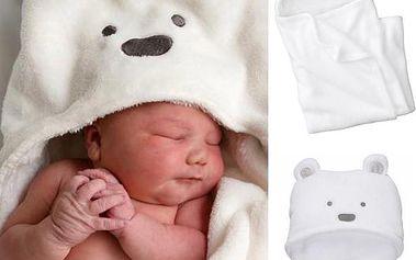 Měkká fleecová deka pro děti s motivem ledního medvěda