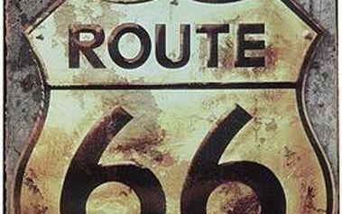 Kovová retro cedule Route 66